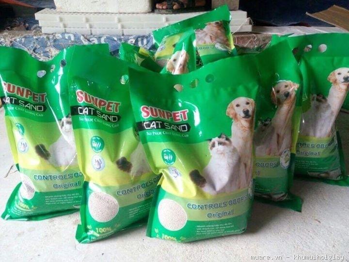 cát vệ sinh sunpet cho chó mèo - chăm sóc mèo