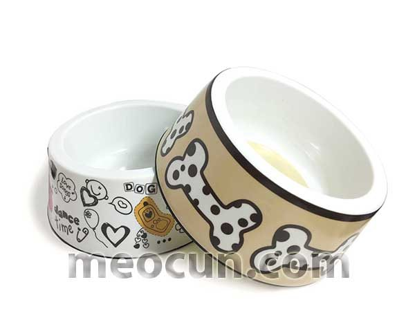 Bát ăn bobo nhỡ cho chó mèo - phụ kiện chó mèo meocun.com