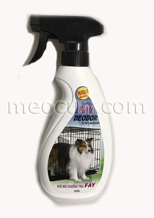 bình xịt khử mùi tẩy trùng chuồng trại fay - phu kiện cho chó mèo meocun.com