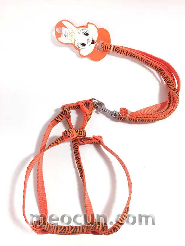 Bộ dây yếm 2 lớp 1cm - Dây dắt và vòng cổ chó mèo
