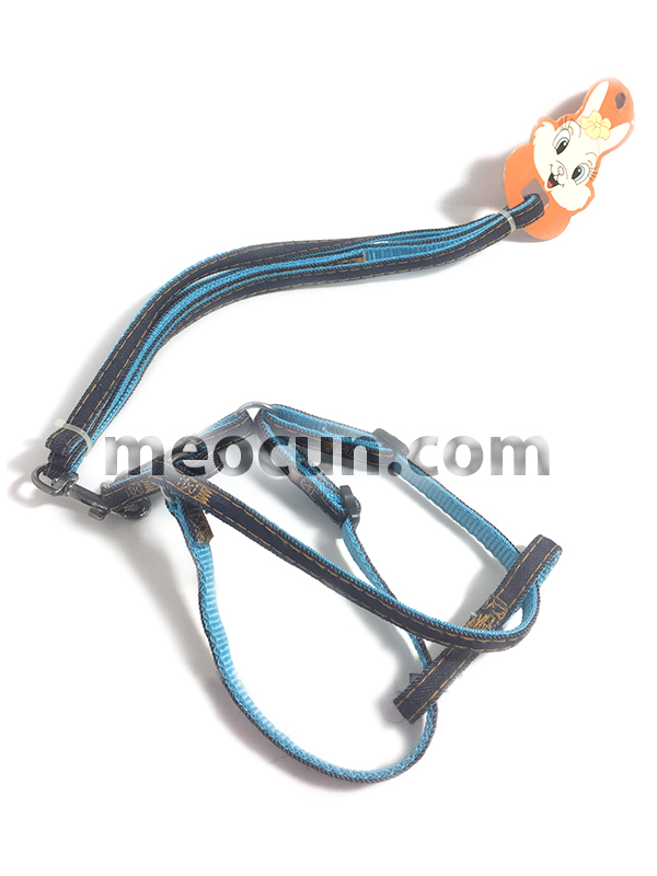 Bộ yếm bò J237 - Vòng cổ và dây dắt chó đi dạo - meocun.com