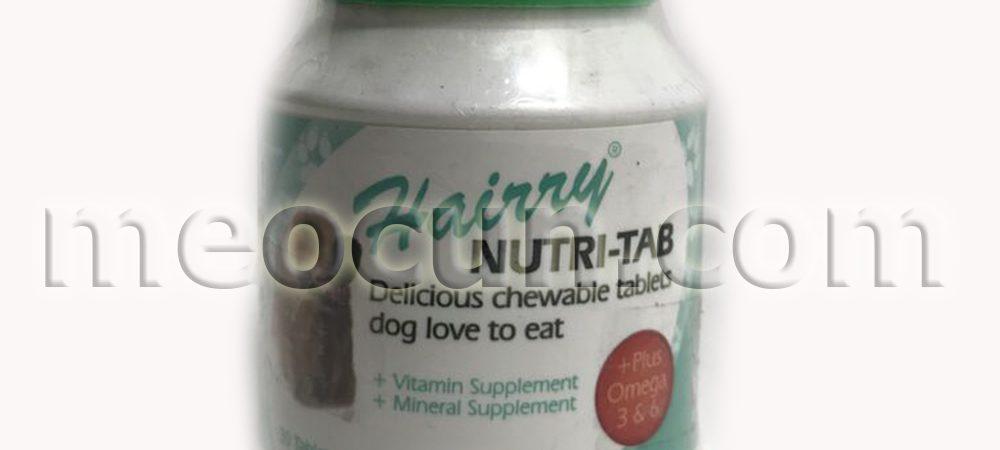 canxi nutri-tab cho giống chó nhiều lông - thức an cho chó meocun.com