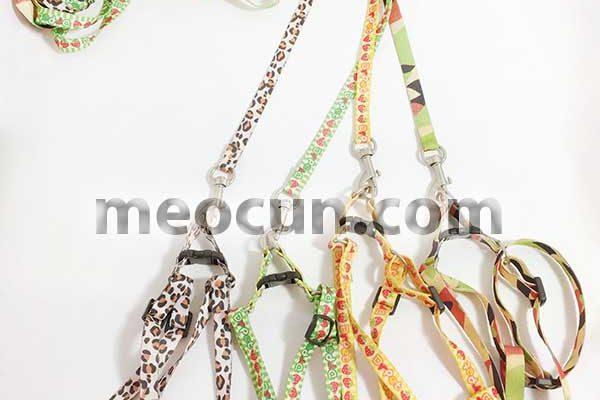Dây mèo cổ yếm - dây dắt mèo đẹp - meocun.com