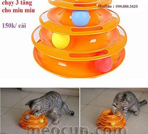 Đồ chơi tháp 3 tầng cho mèo - đồ chơi cho mèo