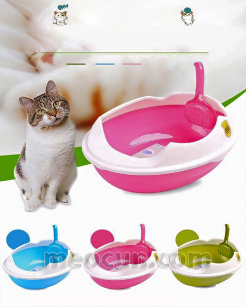 Khay vệ sinh cho mèo hình trứng - phụ kiện chó mèo