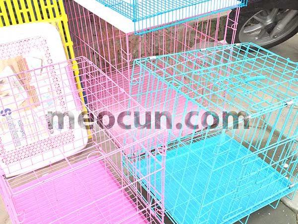 Lồng sắt cho chó mèo sơn tĩnh điện cao cấp - meocun.com