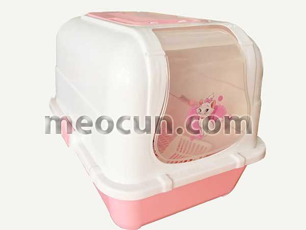 Nhà vệ sinh cho mèo màu hồng xinh sắn - Mèo Cún Pet Shop