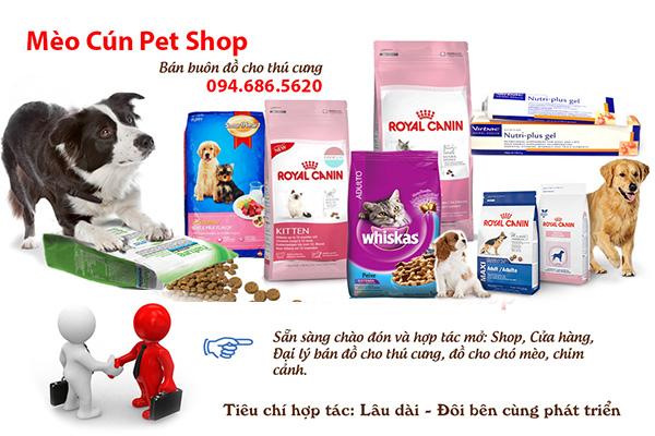 Sỉ lẻ Thức ăn phụ kiện chó mèo uy tín giá rẻ toàn quốc