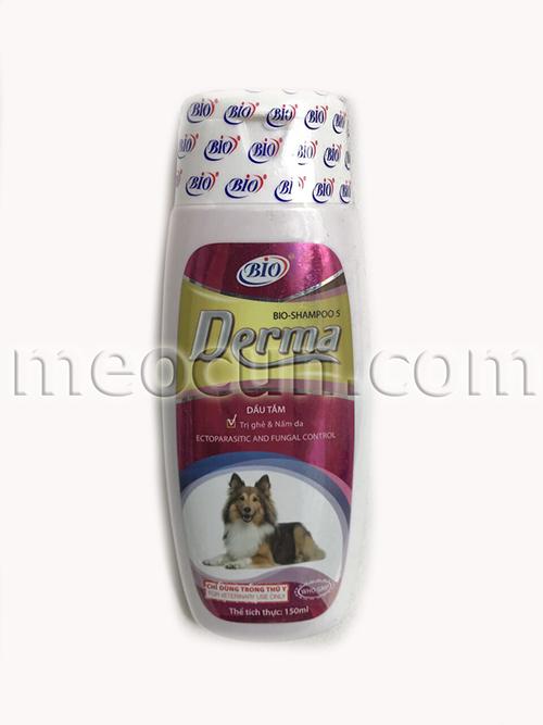 sữa tắm trị ghẻ nấm cho chó bio drema - sua tắm cho chó meocun.com