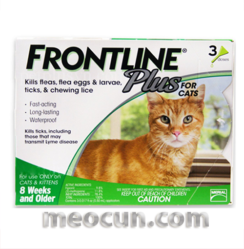 thuốc nhỏ gáy frontline plus chó mèo
