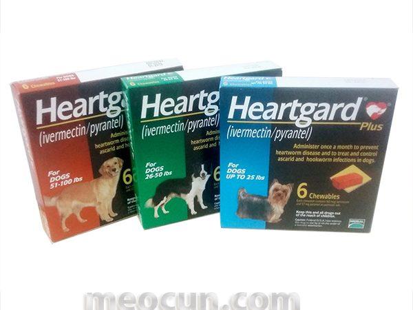 Thuốc tẩy giun cho chó Heartgard Mèo Cún Pet Shop