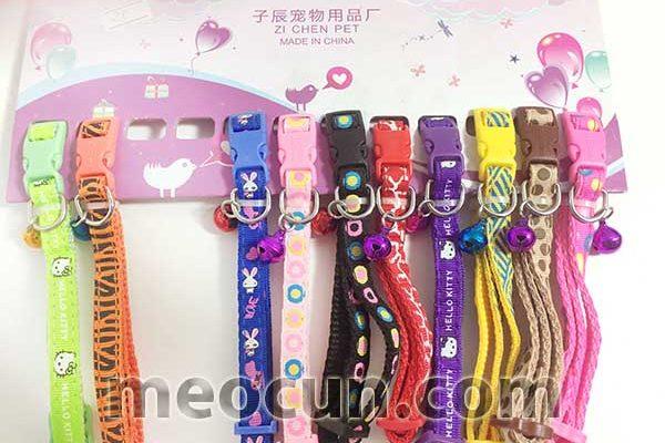 Vòng cổ đẹp cho chó - vòng cổ 2 lớp 1cm - meocun.com