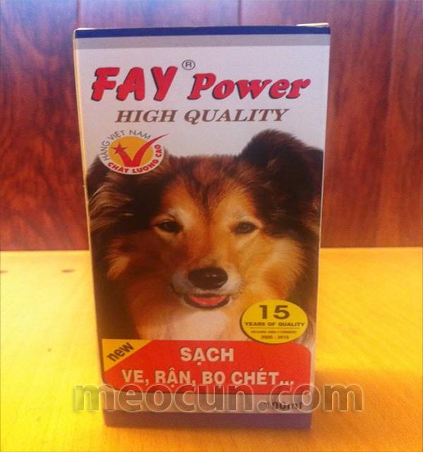 xịt ve giận, bọ chét Fay power chó mèo